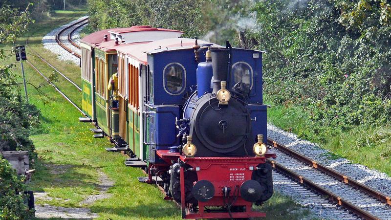 Petit train touristique près du Domaine de Rilhac.