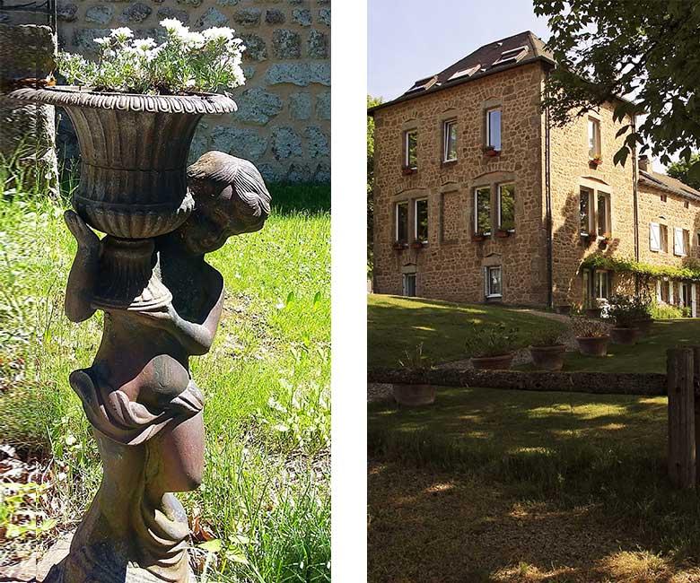 décoration du parc-jardin-hotel saint agreve-domaine de rilhac.
