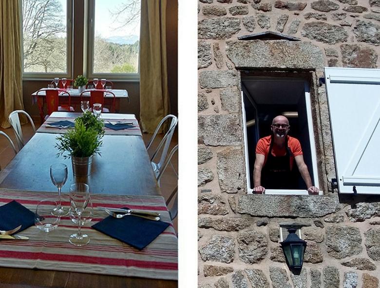 Façade du restaurant La Table de Fred au Domaine de Rilhac - hôtel en Ardèche